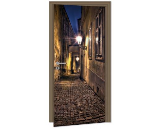 Samolepicí fototapeta na dveře Street DL050 Ulice