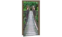 Samolepicí fototapeta na dveře Footbridge DL055 Lávka