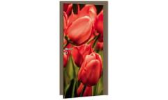 Samolepicí fototapeta na dveře Red Tulips DL057 Červené tulipány