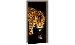 Samolepicí fototapeta na dveře Panther DL058 Panter