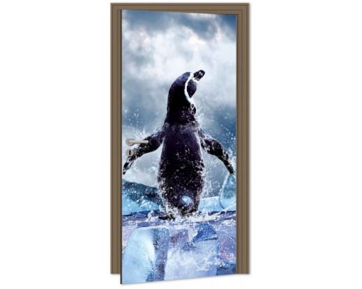 Samolepicí fototapeta na dveře Penguin DL059 Tučňák