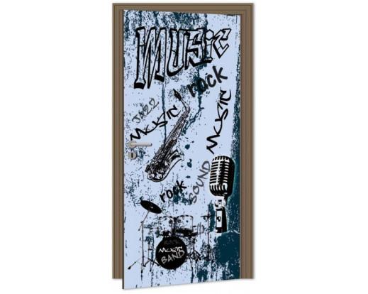 Samolepicí fototapeta na dveře Music DL048 Hudba