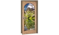 Samolepicí fototapeta na dveře Light Door DL017 Světlé dveře