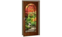 Samolepicí fototapeta na dveře Dark Door DL018 Tmavé dveře