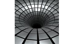 Samolepicí fototapeta na podlahu Silver Hole, Stříbrná prospast