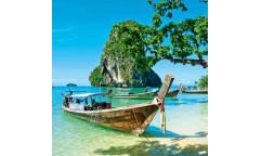 Samolepicí fototapeta na podlahu Thailand boat, Loďka