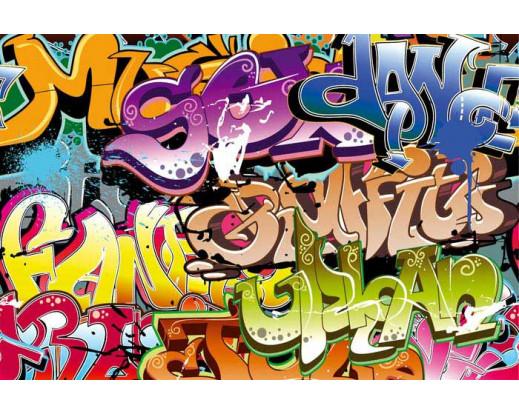 Samolepicí fototapeta na podlahu Graffiti