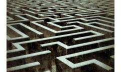 Samolepicí fototapeta na podlahu Labyrinth, Bludiště