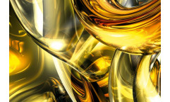 Samolepicí fototapeta na podlahu Golden Wires, Zlatá