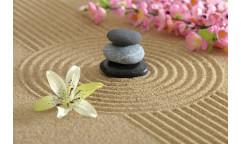 Samolepicí fototapeta na podlahu Zen garden, Zenová zahrada
