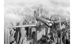 Samolepicí fototapeta na podlahu Airplane, Letadlo