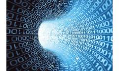 Samolepicí fototapeta na podlahu Binary stream, Binární kód