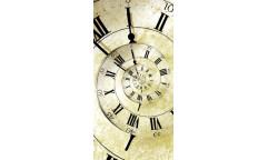 Samolepicí fototapeta na podlahu Spiral Clock, Hodiny
