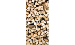 Samolepicí fototapeta na podlahu Timber logs, Dřevěná polena