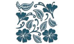 Pěnová samolepka Flowers & Leaves 54509 Květy