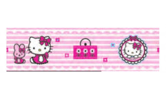 Samolepicí bordura Hello Kitty D42260