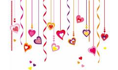 Samolepka Hearts on Strings 74307 Srdce na provázcích