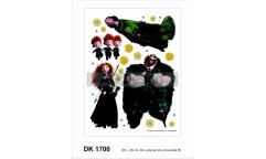 Samolepka Princezna Rebelka DK 1700