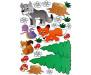Samolepka Animals, Zvířátka ST1 004