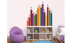 Samolepka Pencils, Barevné pastelky ST2 003