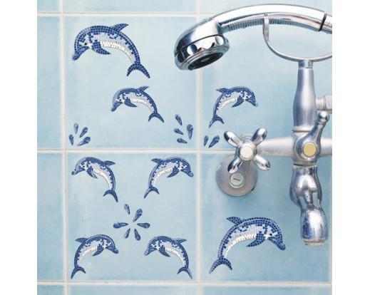 Samolepka Dolphins Mosaic 59601 Delfíni