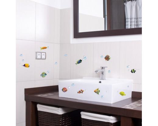 Samolepka Colourful Fishes 59604 Rybičky