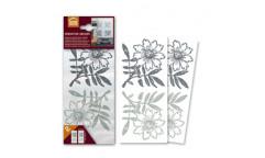 Samolepka Grey Flowers 60387 Šedé květiny