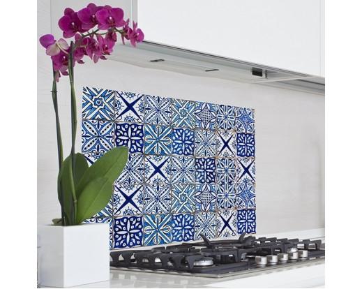 Samolepka do kuchyně Blue Azulejos 67215 Modré kachličky