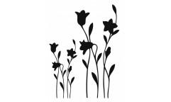 Velurová samolepka Černé květiny 350-0176