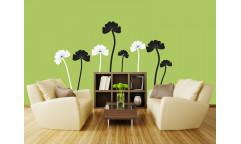 Samolepka Black flowers ST2 024 Černé květiny