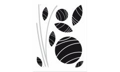 Velurová samolepka Květina FL 0486