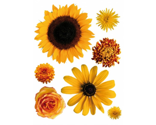 Samolepka Žluté květy F 408