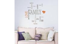 Samolepka Family 62235 Rodina, nápis