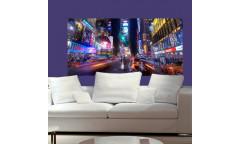 Samolepicí malířské plátno GoBig WallPanel City Life - Život velkoměsta