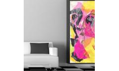 Samolepicí malířské plátno GoBig WallPanel Yellow Lady
