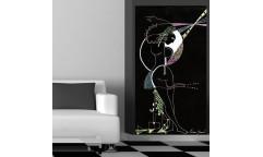 Samolepicí malířské plátno GoBig WallPanel Black Magic Woman