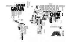 Samolepka World Map 57110 / 44010 Mapa světa