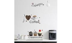 Samolepka Espresso 58106 Káva a zákusky