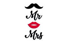 Pěnová samolepka Mrs. Mr. 59511 Pan a Paní