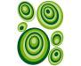Samolepka Green circles, Zelené kruhy ST1 021