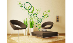 Samolepka Green circles ST1 021 Zelené kruhy