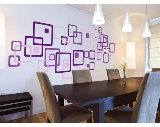 Samolepka Violet squares ST1 022 Fialové čtverce