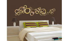 Samolepka Golden rings ST1 024 Zlaté kruhy