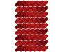 Samolepka Red waves ST1 026 Červené vlnky
