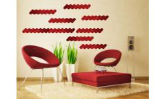 Samolepka Red waves, Červené vlnky ST1 026