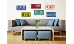 Samolepka Plate numbers, poznávací značka ST1 008