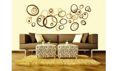Samolepka Brown Circles, Hnědé kruhy ST1 019