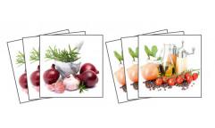 Samolepky na kachličky Spice & herbs TI 001 Koření a bylinky