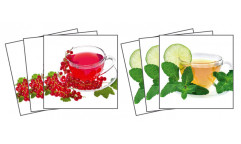 Samolepky na kachličky Cup of tea TI 002 Šálek čaje