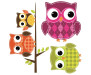 Elektrostatická dekorace na sklo Owls 64007 Sovičky
